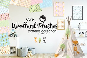 WOODLAND PLUSHES Pattern collection