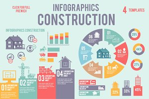 4 vector construction infographics