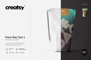 Paper Bag Type 1 Mockup Set