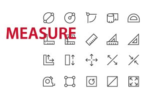 20 Measure UI icons