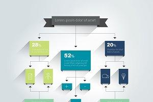 Flowchart. Scheme, infographic