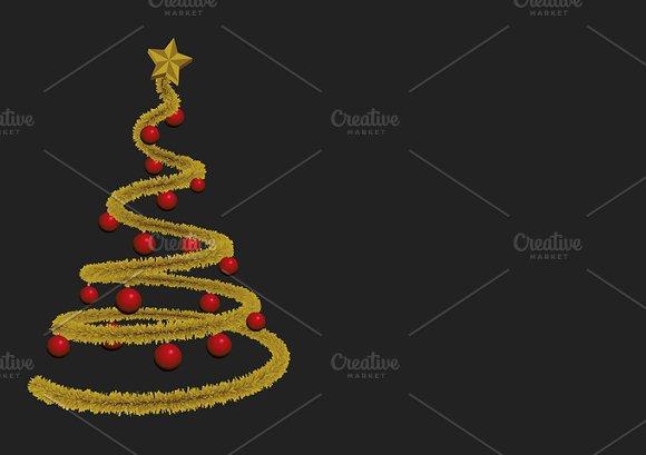 Christmas tree greetings card
