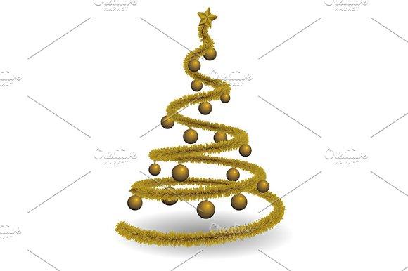 Greetings card christmas tree
