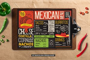 FREE! Trifold + Mexican Food Menu