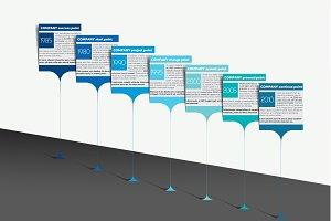 Milestone, timeline, infographics