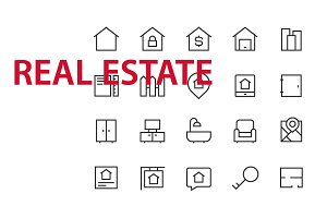 20  Real Estate UI icons