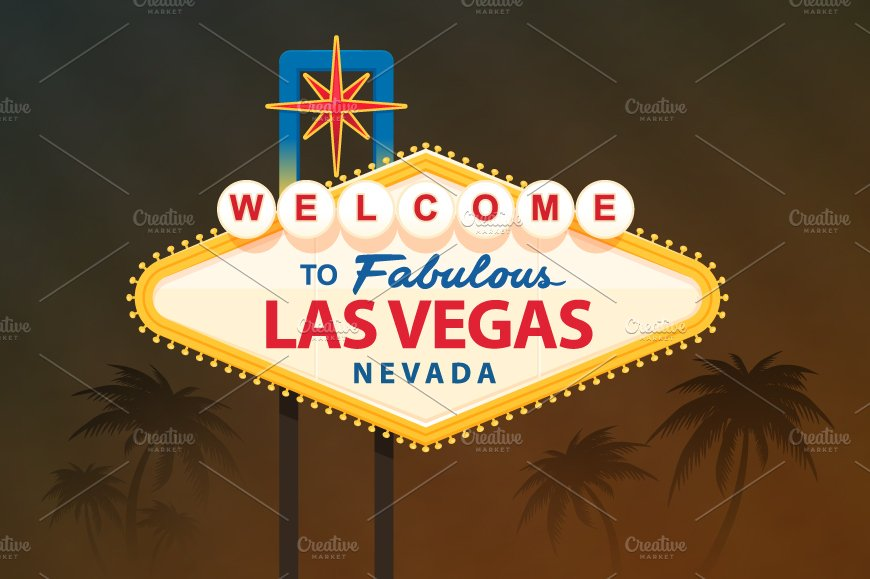 Welcome To Fabulous Las Vegas Sign ~ Illustrations ~ Creative Market