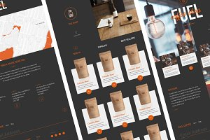 Coffee shop site template
