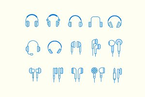 15 Headphone Earphone Icons