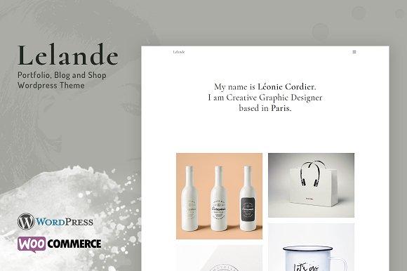 Lelande - Wordpress Portfolio Theme