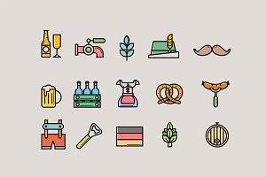 15 Oktoberfest Icons