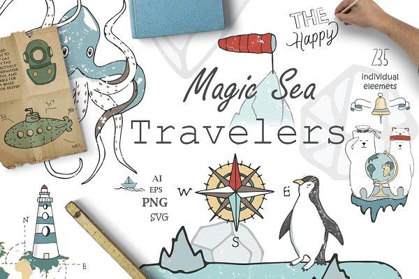 Sea Adventure. Travel Kit