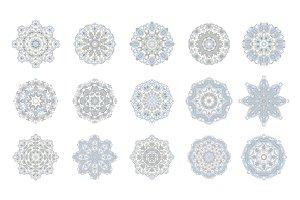 20 vector snowflakes (mandala)