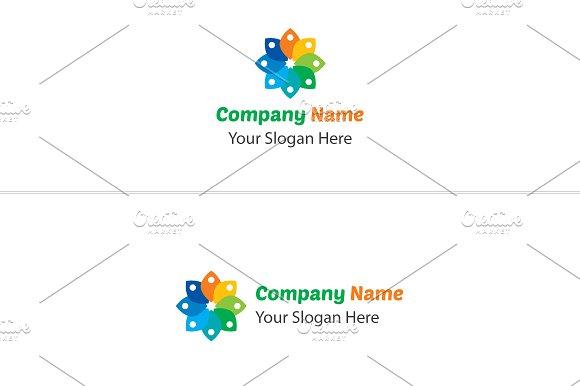 staple flower logo logo templates creative market