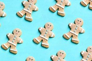 Pattern of gingerbread man