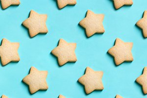 Bakery pattern. Star cookies