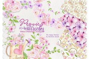 Watercolor Flora Clipart