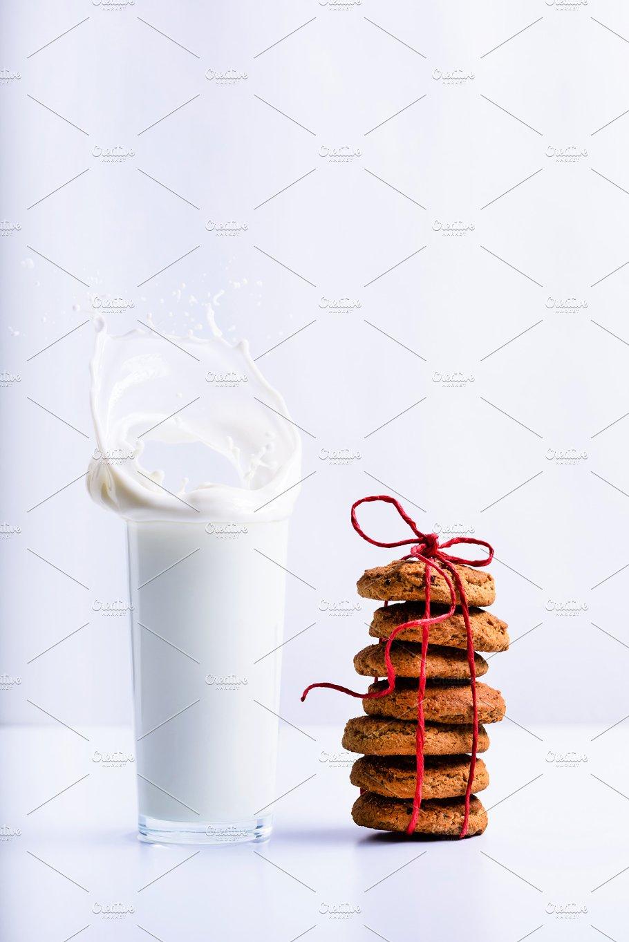 Christmas cookies with milk - Food & Drink