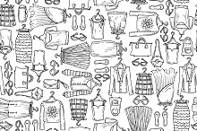 Pattern with sketches of clothes
