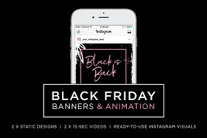 BLACK FRIDAY ANIMATION & BANNERS