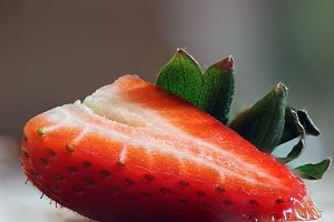 Macro Strawberry Tilted