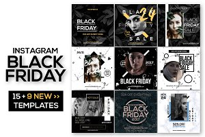15 Instagram Templates: Black Friday