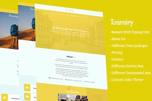 Tourniry HTML5 Travel/Tours Template