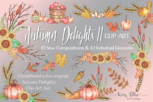 Autumn Delights II Clip Art