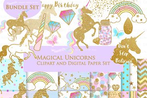 Magical Unicorns, Einhorn, Gold