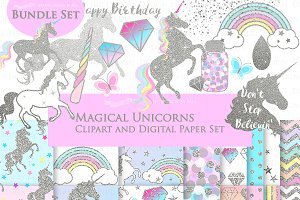 Magical Unicorns, Einhorn, Silver