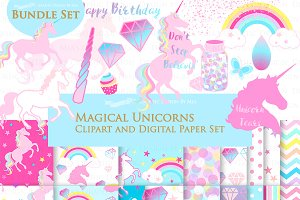 Magical Unicorns, Einhorn, Pink