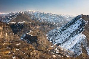 valley in the Armenian village Garni