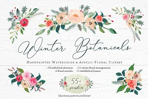 Winter Botanicals Floral Clipart