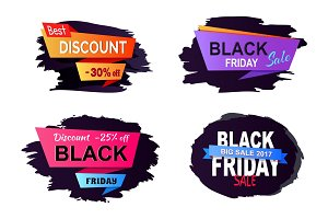 Big Sale 2017 Black Friday Vector Illustration