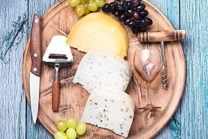 Different kinds of swiss cheeses