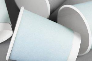 Paper cups mockup