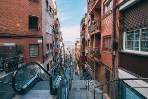 Street in Barcelona city