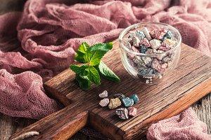 Multicolor bonbon sweets