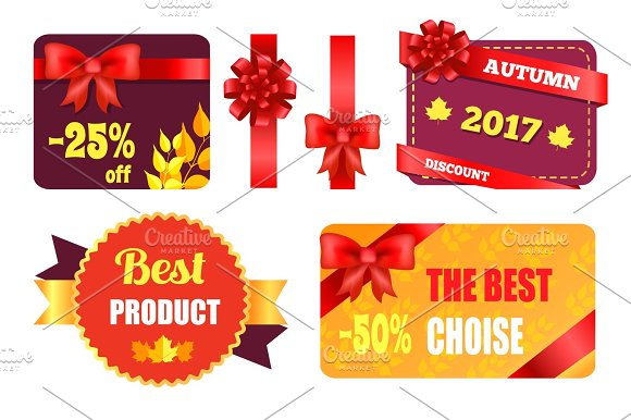 Gift Cards Design with Decorative Bow Best Product