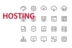 20 Hosting UI icons