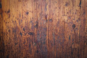 Brown scratched wooden background