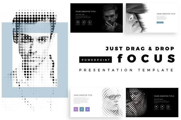focus premium powerpoint template presentation templates