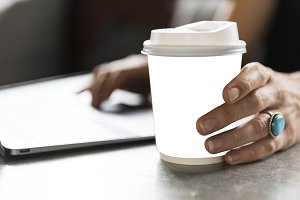 Coffee cup mockup(PNG)