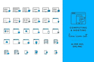 Computing & Hosting Icon Set