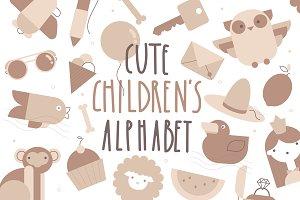 Cute children's alphabet