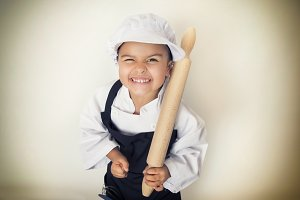Angry chef girl