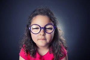 Myopic girl