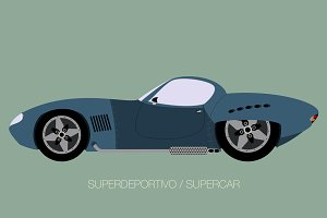 vintage supercar