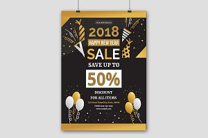 New Year Sale Flyer V673