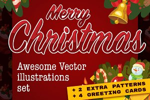 Big Christmas vector elements set